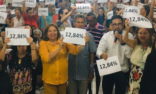 APOSENTADOS NÃO ABREM MÃO DO REAJUSTE DE 12,84%