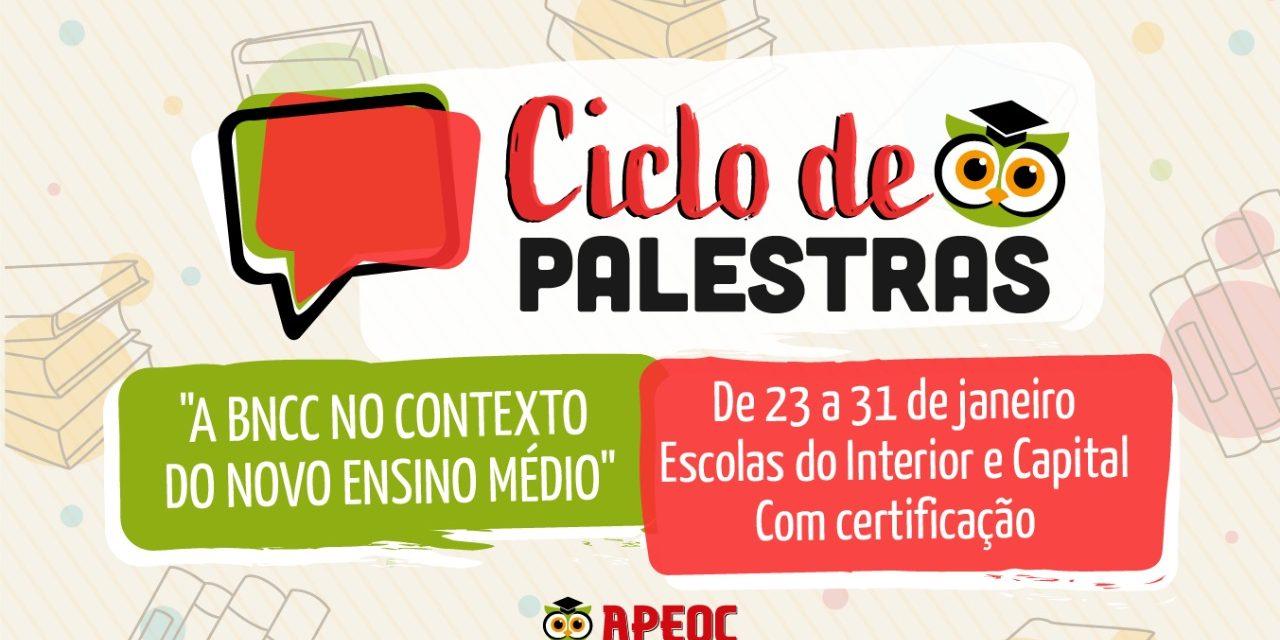 APEOC PROMOVE CICLO DE PALESTRAS NAS ESCOLAS