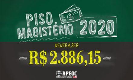 REAJUSTE DO PISO NACIONAL DO MAGISTÉRIO DEVERÁ SER DE 12,84% EM 2020