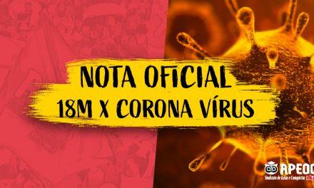 NOTA OFICIAL: 18M X CORONA VÍRUS