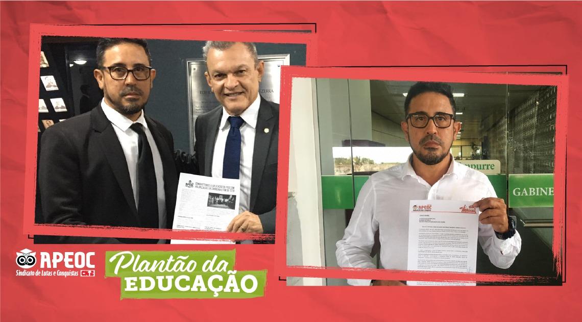 ANIZIO MELO FAZ ARTICULAÇÃO NO LEGISLATIVO E PROTOCOLA OFICIO NA SEDUC