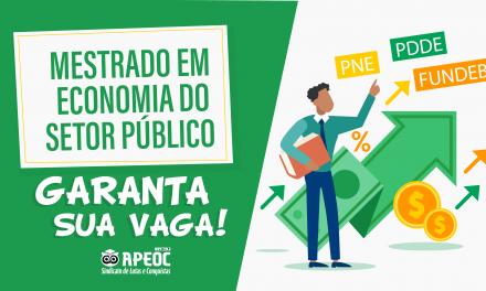 LANÇADO EDITAL DO MESTRADO EM PARCERIA COM A APEOC