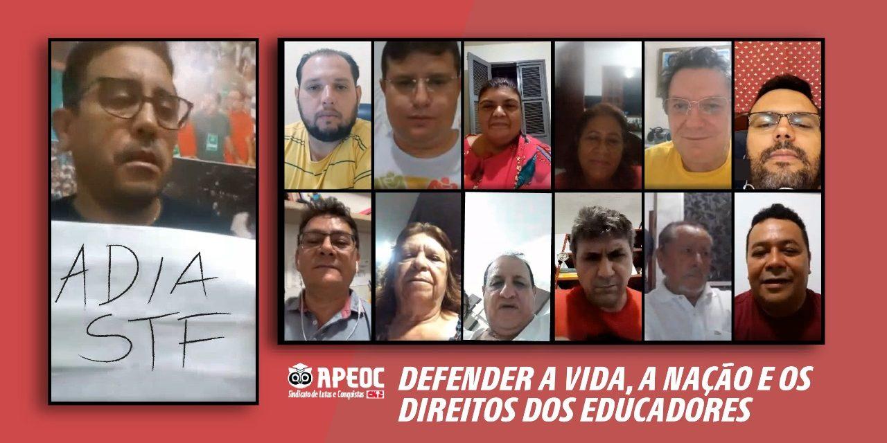 EXECUTIVA DELIBERA: É HORA DE DEFENDER A VIDA, A NAÇÃO E OS DIREITOS DOS EDUCADORES