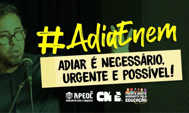 NOTA FRENTE PARLAMENTAR MISTA DA EDUCAÇÃO: Manter os prazos do ENEM em 2020 prejudicará os alunos que estão em casa em virtude das medidas de enfrentamento ao COVID-19