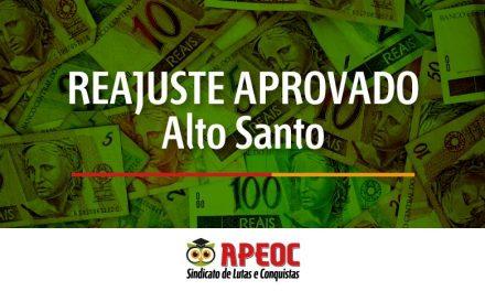 ALTO SANTO: APROVADO REAJUSTE DE 12,84% PARA MAGISTÉRIO