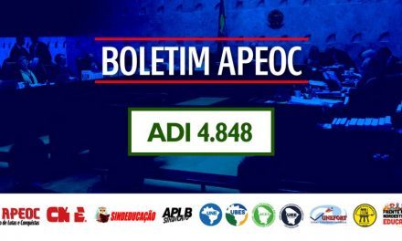 BOLETIM INFORMATIVO 1: ADI 4.848 – REAJUSTE DO PISO