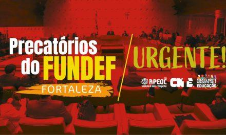 PRECATÓRIO DO FUNDEF DE FORTALEZA: AGRAVO SERÁ JULGADO DIA 10 DE ABRIL
