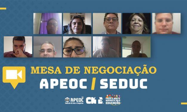 BOLETIM DA MESA DE NEGOCIAÇÃO APEOC/SEDUC