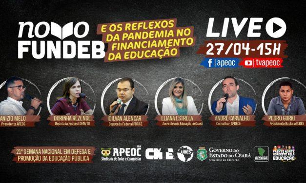 """LIVE """"NOVO FUNDEB – REFLEXOS DA PANDEMIA NO FINANCIAMENTO DA EDUCAÇÃO"""""""