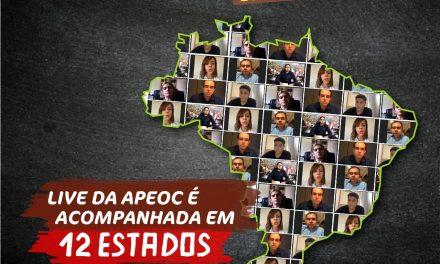LIVE DA APEOC SOBRE NOVO FUNDEB É ACOMPANHADA EM 12 ESTADOS