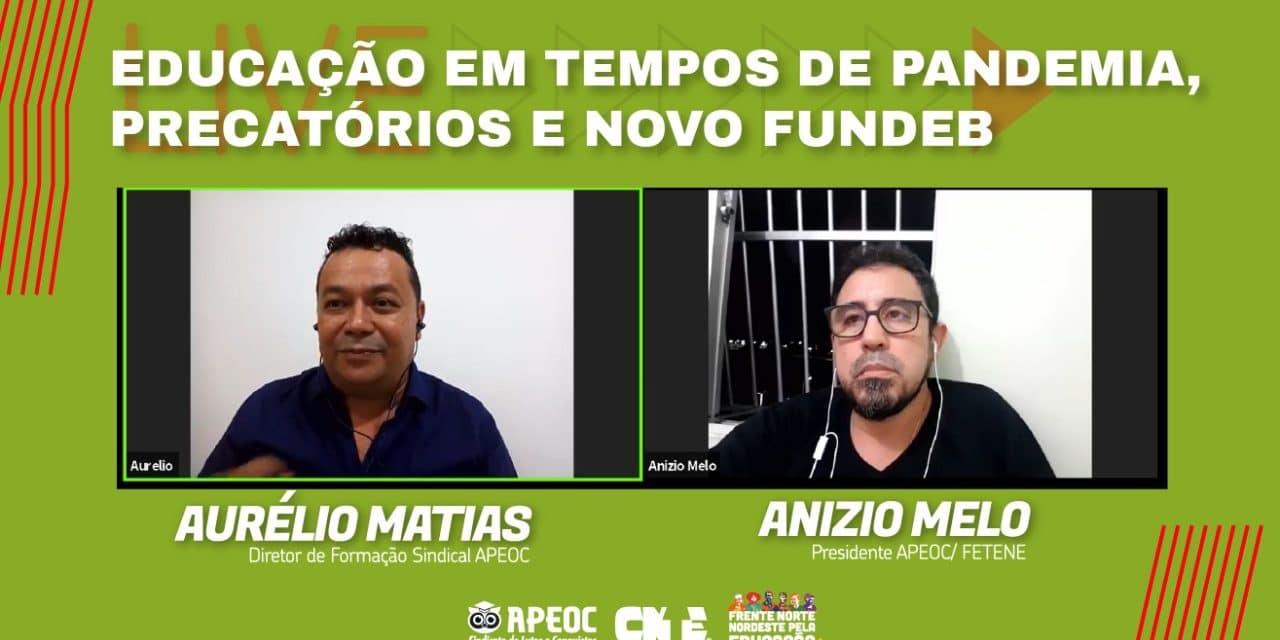   LIVE   EDUCAÇÃO EM TEMPOS DE PANDEMIA, PRECATÓRIOS E NOVO FUNDEB