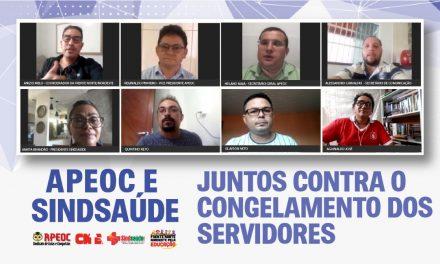 APEOC E SINDSAÚDE UNEM FORÇAS CONTRA VETO DE BOLSONARO
