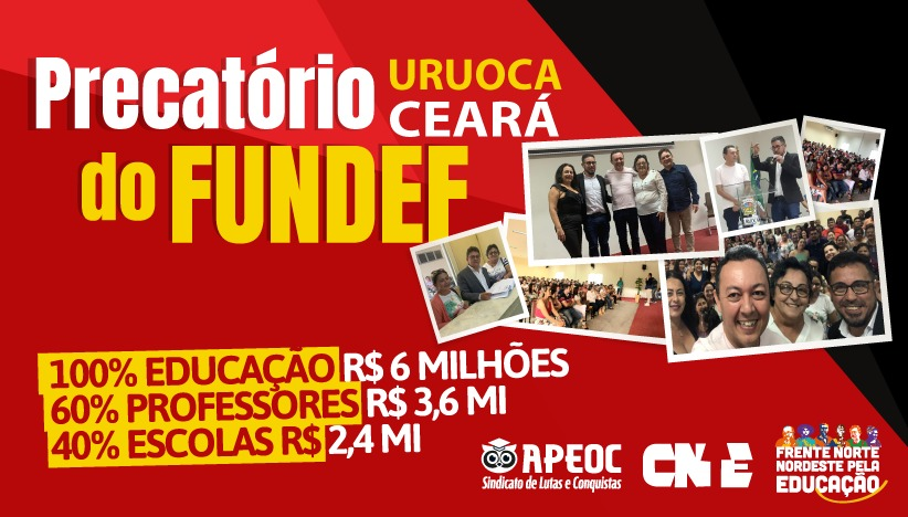   PRECATÓRIOS DO FUNDEF URUOCA/CE   ACORDO ENCAMINHADO PARA HOMOLOGAÇÃO