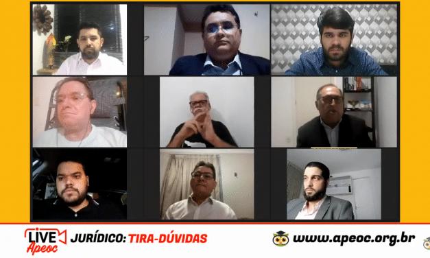 LIVE DA SEMANA: JURÍDICO APEOC ESCLARECE DÚVIDAS CATEGORIA