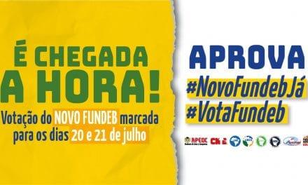 É CHEGADA A HORA! <br><h3>#NovoFundebJá e #VotaFundeb</h3>