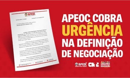 APEOC COBRA URGÊNCIA NA DEFINIÇÃO DE NEGOCIAÇÃO <br><h3>Sindicato envia ofício ao governador e à SEDUC</h3>