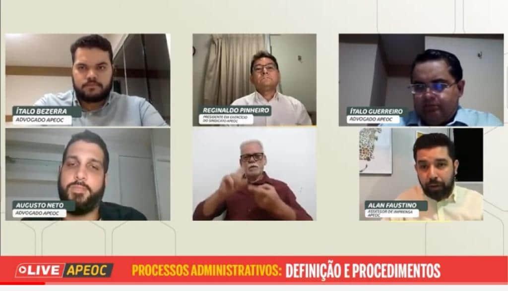 LIVE DA SEMANA: JURÍDICO APEOC ESCLARECE DÚVIDAS SOBRE PROCESSOS ADMINISTRATIVOS