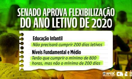 AGÊNCIA SENADO: APROVADA MP QUE DESOBRIGA ESCOLAS A CUMPRIR A QUANTIDADE DE DIAS LETIVOS EM 2020
