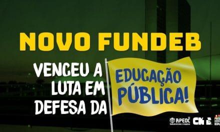 NOVO FUNDEB: VENCEU A LUTA EM DEFESA DA EDUCAÇÃO PÚBLICA <br><h3>Na Câmara Federal, Bolsonaro e Partido Novo até tentaram atrapalhar, mas Novo FUNDEB é aprovado e segue para o Senado Federal</h3>