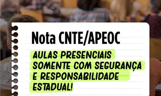 AULAS PRESENCIAIS SOMENTE COM SEGURANÇA E RESPONSABILIDADE ESTATAL!