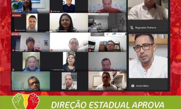 DIREÇÃO ESTADUAL APROVA RESOLUÇÃO POLITICA PARA PLENÁRIAS REGIONAIS