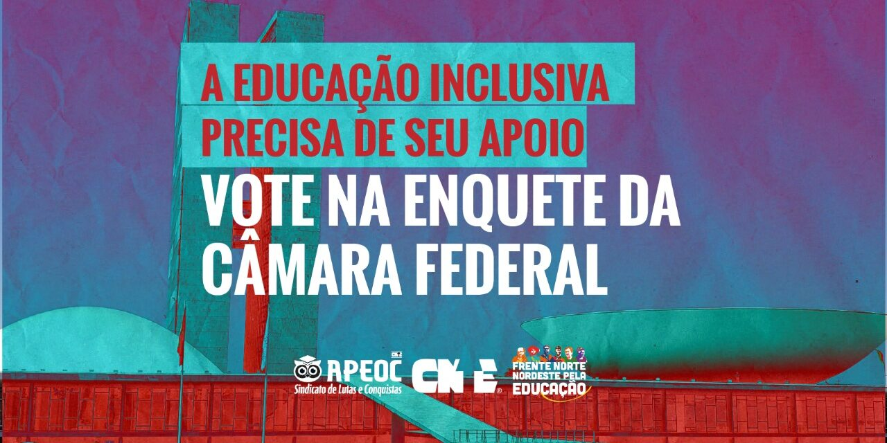 A EDUCAÇÃO INCLUSIVA PRECISA DE SEU APOIO: VOTE NA ENQUETE DA CÂMARA FEDERAL