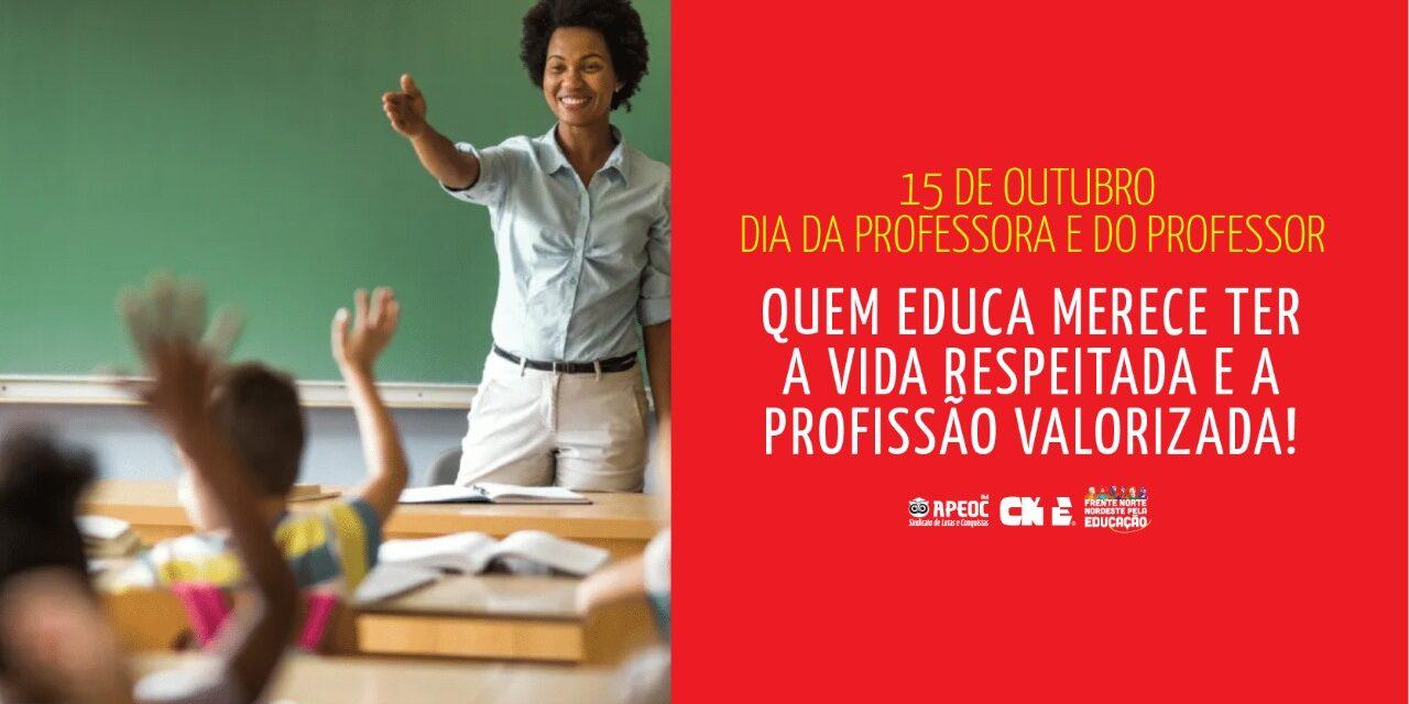 15 DE OUTUBRO: PARABÉNS PROFESSORAS E PROFESSORES!