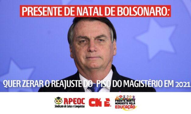 PRESENTE DE NATAL DE BOLSONARO: QUER ZERAR O REAJUSTE DO PISO DO MAGISTÉRIO EM 2021