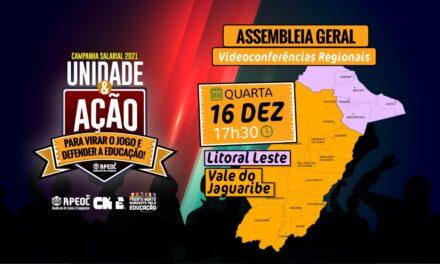 ASSEMBLEIA GERAL APEOC – 5ª Videoconferência Regional