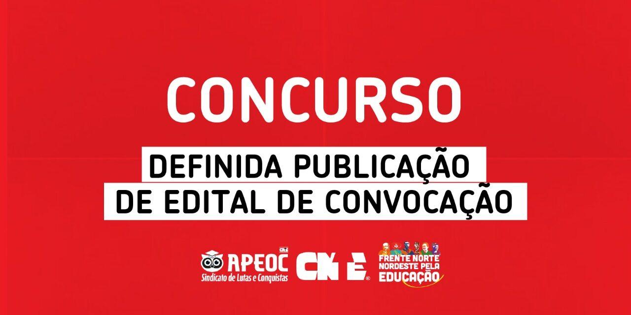CONCURSO: DEFINIDA PUBLICAÇÃO DE EDITAL DE CONVOCAÇÃO