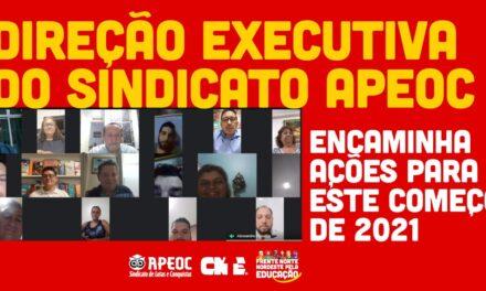 DIREÇÃO EXECUTIVA DO SINDICATO APEOC ENCAMINHA AÇÕES PARA ESTE COMEÇO DE 2021
