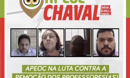 CHAVAL: APEOC NA LUTA CONTRA A REMOÇÃO DOS PROFESSORES(AS) PARA A ZONA RURAL