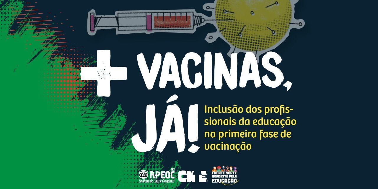 PRESSÃO TEM RESULTADO: PROFESSORES SERÃO INCLUÍDOS NO CALENDÁRIO DE VACINAÇÃO DE MARÇO