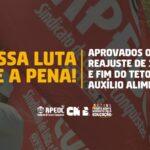 NOSSA LUTA VALE A PENA: APROVADOS OS 12,84% E FIM DO TETO DO AUXÍLIO ALIMENTAÇÃO
