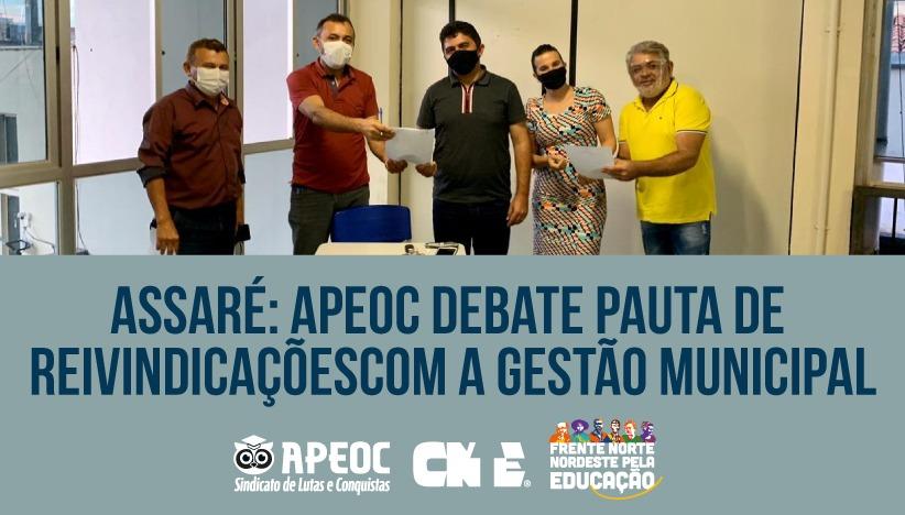 ASSARÉ: APEOC DEBATE PAUTA DE REIVINDICAÇÕES COM A GESTÃO MUNICIPAL
