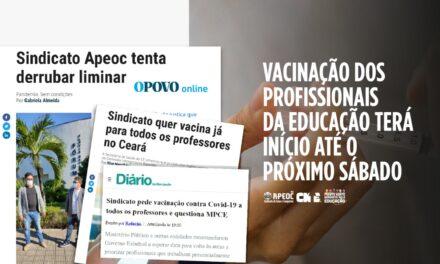 VACINAÇÃO DOS PROFISSIONAIS DA EDUCAÇÃO TERÁ INÍCIO ATÉ O PRÓXIMO SÁBADO