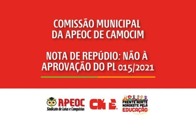 COMISSÃO MUNICIPAL DA APEOC CAMOCIM – NOTA DE REPÚDIO