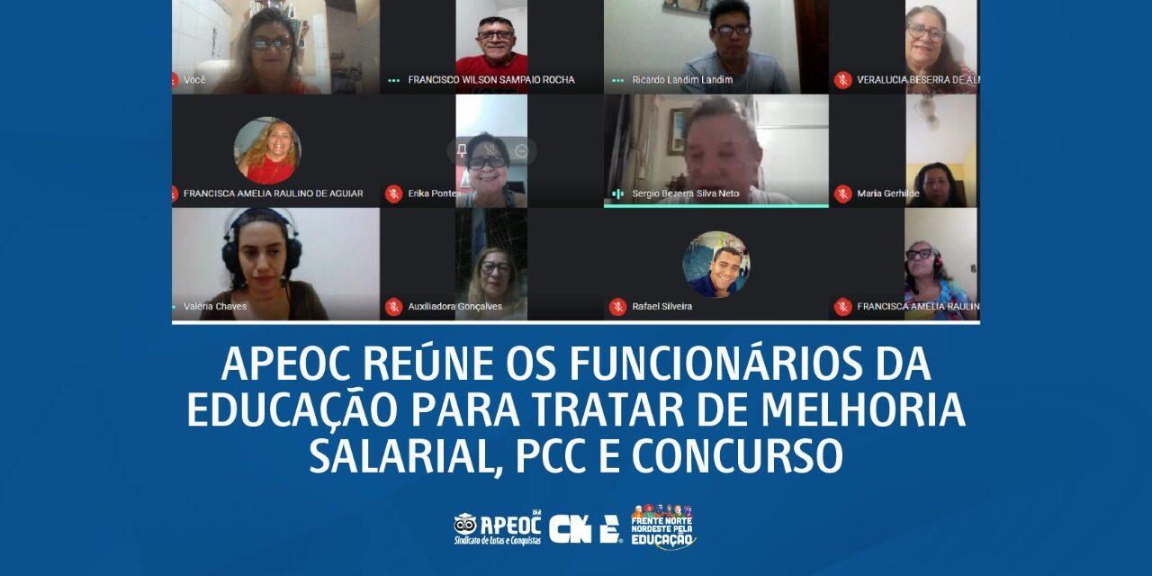 APEOC REÚNE OS FUNCIONÁRIOS DA EDUCAÇÃO PARA TRATAR DE MELHORIA SALARIAL, PCC E CONCURSO