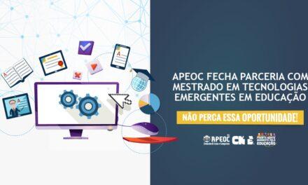 APEOC FECHA PARCERIA COM MESTRADO EM TECNOLOGIAS EMERGENTES EM EDUCAÇÃO