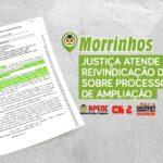 MORRINHOS: JUSTIÇA ATENDE REIVINDICAÇÃO DA APEOC SOBRE PROCESSO DE AMPLIAÇÃO
