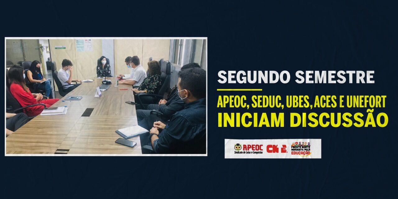 SEGUNDO SEMESTRE: APEOC, SEDUC, UBES, ACES E UNEFORT INICIAM DISCUSSÃO