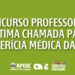 CONCURSO PROFESSOR(A): ÚLTIMA CHAMADA PARA PERÍCIA MÉDICA DA T2