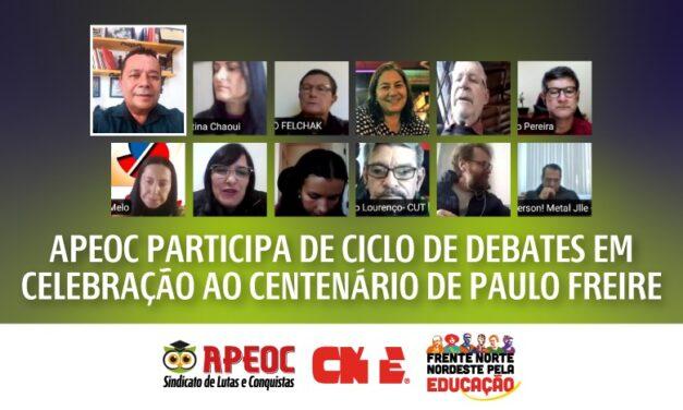 APEOC PARTICIPA DE CICLO DE DEBATES EM CELEBRAÇÃO AO CENTENÁRIO DE PAULO FREIRE