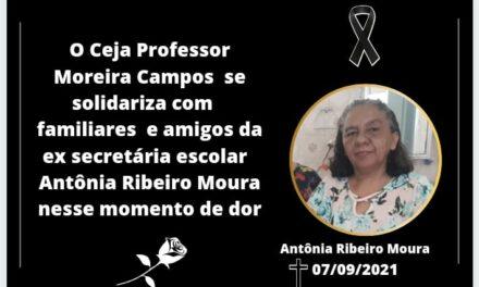 NOTA DE PESAR: ANTÔNIA RIBEIRO MOURA