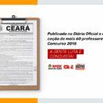 PUBLICADA NO DIÁRIO OFICIAL A CONVOCAÇÃO DE MAIS 60 PROFESSORES(AS) DO CONCURSO 2018
