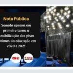 SENADO APROVA EM PRIMEIRO TURNO A FLEXIBILIZAÇÃO DOS PISOS MÍNIMOS DA EDUCAÇÃO EM 2020 E 2021