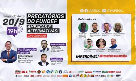 LIVE ESPECIAL   PRECATÓRIOS DO FUNDEF: AMEAÇAS E ALTERNATIVAS COM O VICE-PRESIDENTE DA CÂMARA FEDERAL, DEPUTADO MARCELO RAMOS