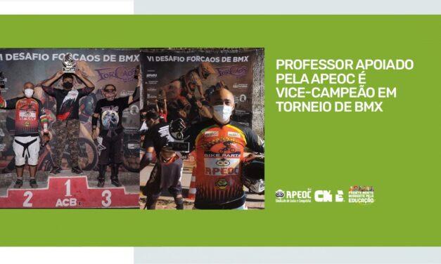 PROFESSOR APOIADO PELA APEOC É VICE-CAMPEÃO EM TORNEIO DE BMX