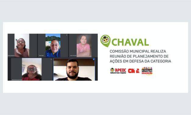 CHAVAL: COMISSÃO MUNICIPAL REALIZA REUNIÃO DE PLANEJAMENTO DE AÇÕES EM DEFESA DA CATEGORIA